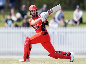 CALLUM FERGUSON of South Australia bats during the JLT One Day Cup match between Victoria and South Australia at Junction Oval Melbourne, Australia.