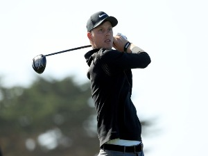 CAMERON DAVIS of Australia plays his shot during the AT&T Pebble Beach Pro-Am at Monterey Peninsula Country Club in Pebble Beach, California.