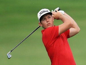 CAMERON SMITH of Australia plays a shot during the Sony Open at Waialae Country Club in Honolulu, Hawaii.