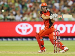 CAMERON WHITE of the Renegades bats during the Big Bash League match at MCG in Australia.