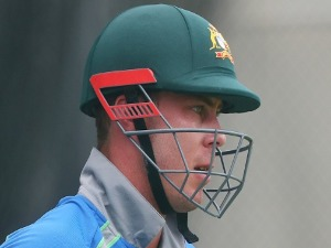 CHRIS LYNN looks on during an Australian nets session at The Gabba in Brisbane, Australia.