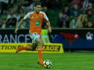 COREY GAMEIRO of the Roar at nib Stadium in Perth, Australia.