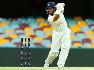 DANIEL CHRISTIAN of the Bushrangers bats during the Sheffield Shield match between Queensland and Victoria at the Gabba in Brisbane, Australia.