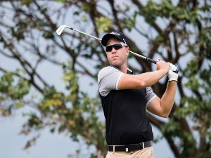 DANIEL NISBET of Australia plays a shot during the Clearwater Bay Open PGA Tour at Clearwater Bay in Hong Kong.