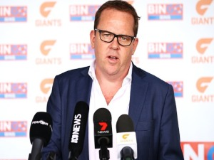 Giants CEO DAVID MATTHEWS during a GWS Giants AFL Media Announcement at the WestConnex Centre in Sydney, Australia.