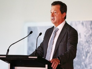 CA Chairman DAVID PEEVER speaks during a CA press conference in South Africa at MCG in Melbourne, Australia.