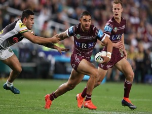 DYLAN WALKER of the Sea Eagles in action during the NRL Elimination Final match between the Manly Sea Eagles and the Penrith Panthers at Allianz Stadium in Sydney, Australia.