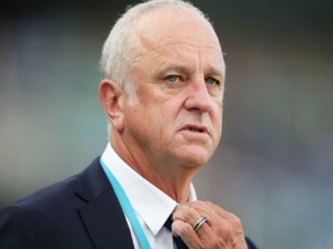 Sydney FC coach GRAHAM ARNOLD looks on during the A-League match between Sydney FC and the Central Coast Mariners at Allianz Stadium in Sydney, Australia.