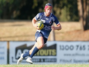 HAMISH STEWART in action during the NRC match between Queensland Country and Melbourne at Bond University in Brisbane, Australia.