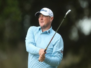 JARROD LYLE of Australia plays a tee shot during the 2016 Australian PGA Championship at RACV Royal Pines Resort in Gold Coast, Australia.
