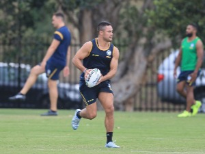 JARRYD HAYNE takes part in a Parramatta Eels NRL pre-season training session at Old Saleyards Reserve in Sydney, Australia.