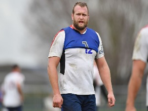 JOE MOODY looks on during a Crusaders Super Rugby training session at Rugby Park in Christchurch, New Zealand.