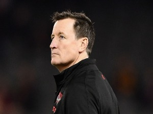 Bombers coach JOHN WORSFOLD looks on during the AFL match between the Essendon Bombers and the Adelaide Crows at Etihad Stadium in Melbourne, Australia.