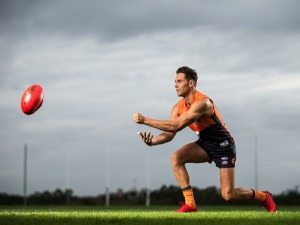 JOSH KELLY poses during the Greater Western Sydney Giants AFL media day in Sydney, Australia.
