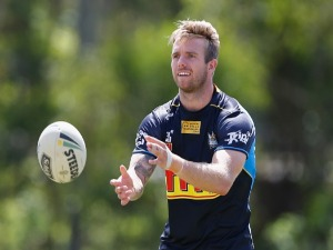 KANE ELGEY during a Gold Coast Titans NRL training session at Parkwood in Gold Coast, Australia.
