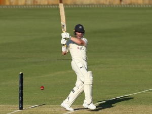 MARCUS HARRIS of Victoria bats during the Sheffield Shield match between Western Australia and Victoria at WACA in Perth, Australia.