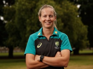 MEG LANNING poses during a Cricket Australia media opportunity at the MCG in Melbourne, Australia.