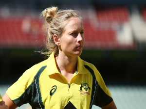MEG LANNING of Australia looks on after the Women's Twenty20 International match between the Australia Southern Stars and the New Zealand White Ferns at Adelaide Oval in Adelaide, Australia.