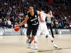 MIKA VUKONA of New Zealand on the drive during the FIBA World Cup Qualifying match between the New Zealand Tall Blacks and China at SA in Auckland, New Zealand.