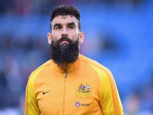 MILE JEDINAK of Australia looks on before the International Friendly match between Norway and Australia at Ullevaal Stadion in Oslo, Norway.