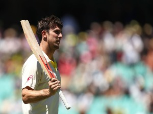 MITCHELL MARSH of Australia during the Fifth Test match in the Ashes Series between Australia and England at SCG in Sydney, Australia.