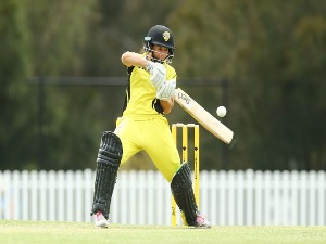 NICOLE BOLTON of WA bats during the WNCL Final match between New South Wales and Western Australia at Blacktown International Sportspark in Sydney, Australia.
