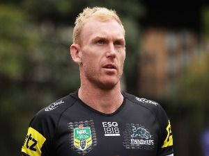 PETER WALLACE of the Penrith Panthers looks on during the NRL season launch at First Fleet Park in Sydney, Australia.