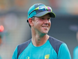 RICKY PONTING, assistant T20 coach looks on during the Twenty20 International match between Australia and England at Blundstone Arena in Hobart, Australia.