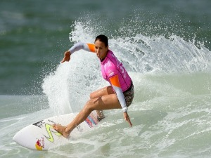 SALLY FITZGIBBONS of Australia surfs during the Oi Rio Pro in Rio de Janeiro, Brazil.