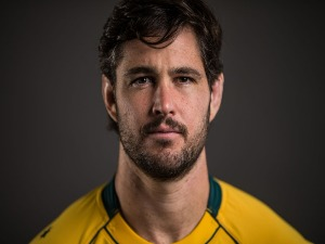 SAM CARTER poses for a headshot during the Australian Wallabies Player Camp at the AIS in Canberra, Australia.