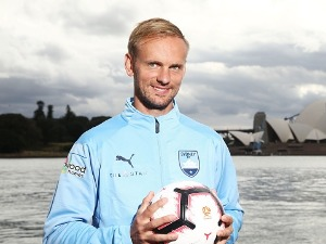 New Sydney FC signing SIEM DE JONG poses during a Sydney FC A-League media opportunity at Mrs Macquarie's Point in Sydney, Australia.