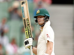 STEVE SMITH of Australia celebrates his half century during the Fourth Test Match in the 2017/18 Ashes series between Australia and England at MCG in Melbourne, Australia.