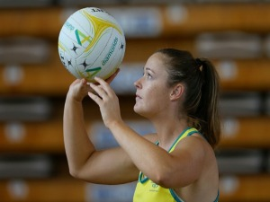SUSAN PETTITT of Australia shoots for goal ahead of the 2018 Gold Coast Commonwealth Games in Gold Coast, Australia.
