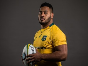 TANIELA TUPOU poses for a headshot during the Australian Wallabies Player Camp at the AIS in Canberra, Australia.
