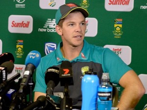 TIM PAINE of Australia during day 1 of the 4th Sunfoil Test match between South Africa and Australia at Bidvest Wanderers Stadium in Johannesburg, South Africa.