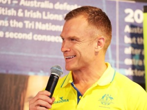Australian Women's Sevens team coach TIM WALSH speaks during the Australian Rugby Sevens Commonwealth Games Teams Announcement at the Rugby Australia building in Sydney, Australia.
