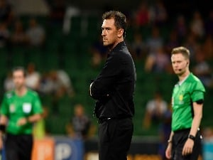 TONY POPOVIC, coach of the Wanderers, looks on during the A-League match between the Perth Glory and Western Sydney Wanderers at nib Stadium in Perth, Australia.