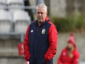 WARREN GATLAND, the Lions head coach looks on during the British & Irish Lions captain's run in Wellington, New Zealand.