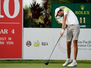 ZACH MURRAY of Australia in action during the Asia-Pacific Amateur Championship at Sentosa Golf Club in Singapore.
