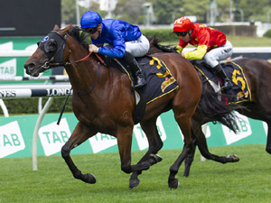 Microphone winning the Schweppes Skyline Stakes