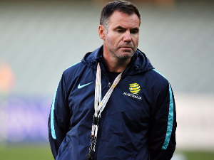 ANTE MILICIC, assistant coach of Australia looks on during the Australian Socceroos training session at the Adelaide Oval in Adelaide, Australia.