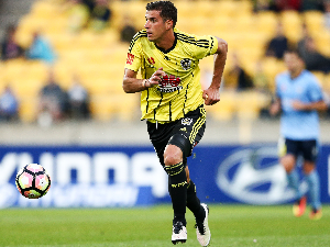 JACOB TRATT of the Phoenix in action during the round three A-League match between the Wellington Phoenix and Sydney FC at Westpac Stadium on Wellington, New Zealand.