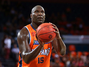 NATE JAWAI of the Taipans shoots during the NBL match between the Cairns Taipans and Melbourne United at Cairns Convention Centre in Cairns, Australia.