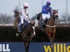 Cue Card( Blue Jacket) winning the William Hill King George VI Chase (Grade 1)