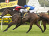 English winning the Schweppes All Aged Stakes