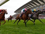 Coronet winning the Ribblesdale Stakes (Fillies' Group 2)