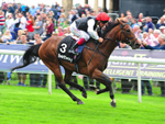 Cracksman winning the Betway Great Voltigeur Stakes (Group 2)