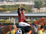 Zac Purton and Time Warp after winning Hong Kong Cup