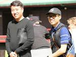 Karl Chan (left) with David Lui