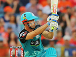 Chris Lynn of the Heat bats during the Big Bash League match against Perth Scorchers at the WACA January 5, 2017